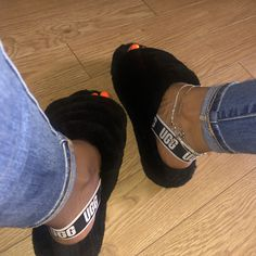 ugg slides with socks . Jordan Shoes Girls, Girls Shoes, Baby Shoes, Cute Uggs, Fluffy Shoes, Ugg Sandals, Sneakers Mode, Hype Shoes, Shoes Uk