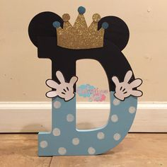 "Mickey Mouse Wooden 9"" Letters but different colors"
