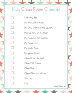 These free Printable Cleaning Checklists will make spring cleaning your home so easy. This set of printables includes a Daily Cleaning Checklist, a Weekly Cleaning Checklist and a Monthly Cleaning Checklist too! Cleaning My Room, House Cleaning Checklist, Deep Cleaning, Cleaning Hacks, Chore Checklist, Cleaning Schedules, Weekly Cleaning, Bedroom Cleaning Tips, Babysitter Checklist