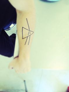 Pink floyd tattoo dark side of the moon forearm minimalistic black and white