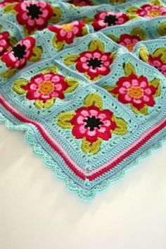 Cherry Heart: Welcome: Painted Roses Blanket crochet pattern (isn't free)
