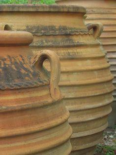 Cement Crafts, Large Pots, Terracotta Pots, Terra Cotta, Greek, Pottery, Fire, Mugs, Heart