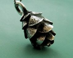 Gold Pine Cone Necklace Antique Gold Pewter by EvelynMaeCreations