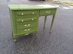 Olivia green dresser perfect for deserts and flowers.