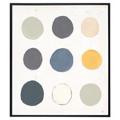 Add a touch of gallery-worthy style to your living room or entryway with this contemporary-chic framed giclee print, showcasing a tonal dot-print motif.