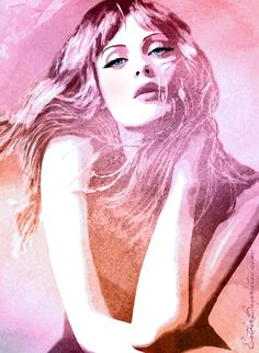 Amazing beauty watercolor portraits byEsther Bayer.