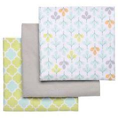 Boppy Flannel Receiving Baby Blanket (3pk) : Target