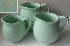 3x Milchkrug Krug Pastell grün VEB Steingutwerk Elsterwerda DDR 1960 Shabby Chic | eBay Steingut