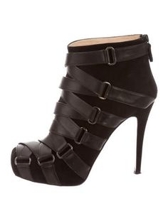 Christian Louboutin Lace-Up Platform Ankle Boots