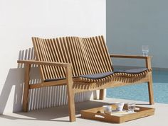 Danish designed sculptural comfortable new season Cane-line outdoor furniture available exclusively in far north qld through Island Point Interiors. Outdoor Furniture Design, Pool Furniture, Furniture Covers, Wooden Furniture, Concrete Furniture, Furniture Projects, Garden Sofa, Patio Accessories, Outdoor Chairs