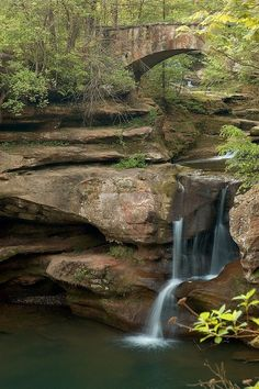Upper falls at Old Mans Cave.  Hocking Hills Oh#Repin By:Pinterest++ for iPad#