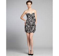 Max & Cleo JennyBlack and White Strapless Mini Dress Various Sizes MSRP: $158.00 #MaxandCleo #Corset #Cocktail