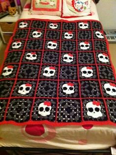 Crochet afghan- my daughter would love this!                                                                                                                                                                                 More