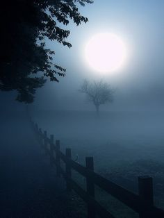 moon glow in the fog Beautiful Moon, Beautiful Places, Beautiful Pictures, Shoot The Moon, Moon Pictures, Foto Art, Samhain, Mabon, Monuments