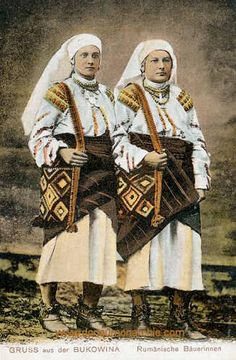 Bukowina - Rumänische Bäuerinnen My Family History, Folklore, Hungary, Poland, African, Indian, Traditional, Costumes, Places