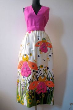 Vintage 1960s Malcolm Starr Amazing Bee Evening by VintageArcana, $225.00