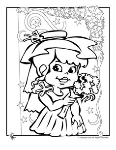 Wedding Coloring Pages Flower Girl Page Fantasy Jr