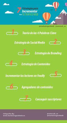 7 estrategias para aumentar el tráfico web #infografía