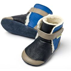 Liliputi® soft soled booties - Yukon Grey #softleatherbabyboots #babyboots #winter