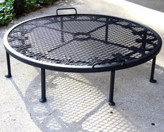 Round large Firepit Stand for your drop in by BlacksmithCreations