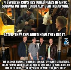 Could they train all of the US's cops, please? They obviously need it, all of them.
