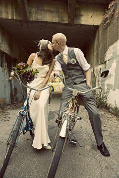 vintage bikes as photo props