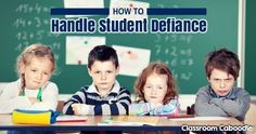 Student defiance could be the worst immediate behavior that can happen, aside from safety issues. How to handle it without emotion.