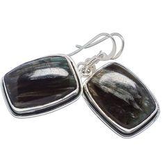 925 Sterling Silver Seraphinite Earrings