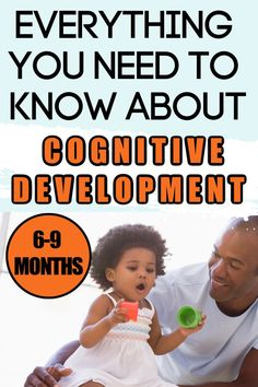 Do you know what to expect in your baby's cognitive development from 9 months? This guide for new moms will help you learn about child development and how to encourage infant learning. Baby Development By Week, Development Milestones, Physical Development, Baby Milestones, Language Development, Infant Lesson Plans, Baby Information, Kids Behavior, Baby Learning
