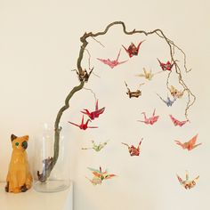 DIY - Crane birds on a branch by Filianne