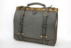Greyish blue business kit bag b Herz
