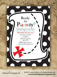 Pirate Party Invitation: DIY Printables. $15.00, via Etsy.