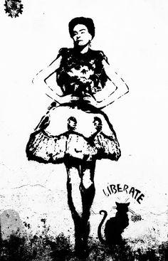 Black White Frida Kahlo Print Download Frida by MiTierraEsTuTierra