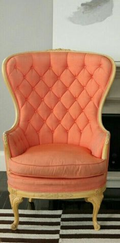 Orange Home Decor, Orange House, Creme, Accent Chairs, Peach, Furniture, Salmon, Lace, Life