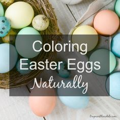 Coloring Easter eggs naturally, avoiding toxic food dyes. Dagmar's Home, DagmarBleasdale.com