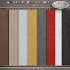 A Pirate's Life... - Solids :: Papers :: Memory Scraps