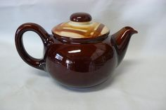Vintage Butterscotch Teapot Metlox Vernonware Division by chriscre