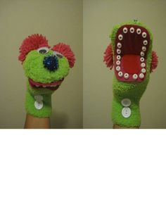 Good Teeth Sock Puppet-- I made a normal sock puppet and used pony beads for the teeth-- I used these puppets to teach about dental health. Animal Hand Puppets, Sock Puppets, Art For Kids, Crafts For Kids, Arts And Crafts, Puppets For Kids, Puppet Patterns, Sock Crafts, Horse Crafts