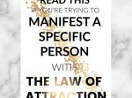 If you have ever wanted to manifest a specific person using the law of attraction, this post is for you. Read on to find out the answers to all these questions and more. Manifestation Law Of Attraction, Law Of Attraction Tips, Letting People Go, Letting Go, Let Go Of Everything, Secret Quotes, Losing Faith, How To Manifest, Self Improvement