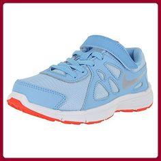 Nike Mädchen Revolution 2 (Psv) Sneakers, Azul (Azul (Lksd / Mtllc Slvr-White-Brght Cr), 35 EU - Sneakers für frauen (*Partner-Link)
