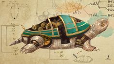 #Steampunk Tendencies | Steampunk Animal Wallpapers - Turtle