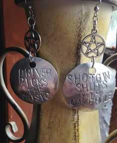 Driver Picks the Music  Shotgun Shuts His Cakehole SPN by Eldwenne, $20.00