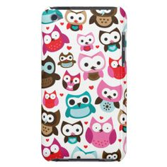 justice ipod cases for girls   Colorful owl kids pattern ipod case iPod touch cases from Zazzle.com