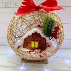 Diy Crafts For Home Decor, Diy Crafts Hacks, Diy Crafts For Gifts, Diy Arts And Crafts, Creative Crafts, Holiday Crafts, Creative Ideas, Homemade Christmas Decorations, Christmas Crafts