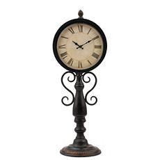 Dark Bronze Metal Pedestal Desk Clock at Kirkland's