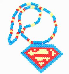 Superman Kandi Necklace