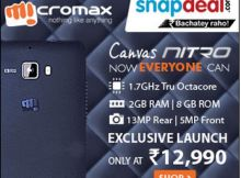 Micromax Canvas Nitro mobile offer at snapdeal Mobile Offers, Product Launch, Canvas, Shopping, Tela, Canvases