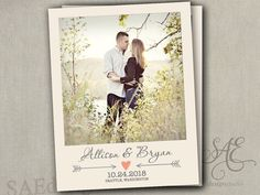 Wedding Save the Dates Vintage Photo BOHO by SAEdesignstudio