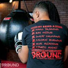 Can you check all the boxes? Get into 9Round today and unleash your inner beast! #iearnedthisshirt #beastmode