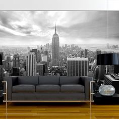 Fotomural decorativo de New York en blanco y negro - http://vinilos.info/producto/fotomural-decorativo-de-new-york-en-blanco-y-negro/ Fotomural de alta calidad. Foto en calidad HD Fácil de instalar #Dormitorio, #Oficina, #Salón #decoracion